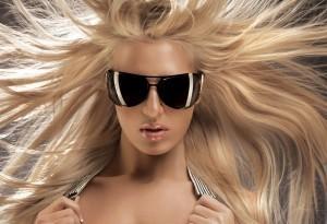 Ultramodern blond woman
