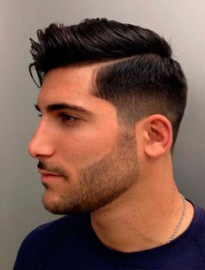 Cortes de cabello con raya hombre