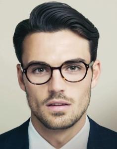 peinados de hombres con lentes1